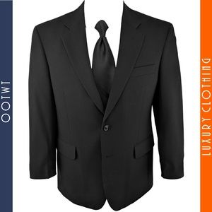 JOS A BANK 38S Charcoal Black 2 Button Wool Blazer